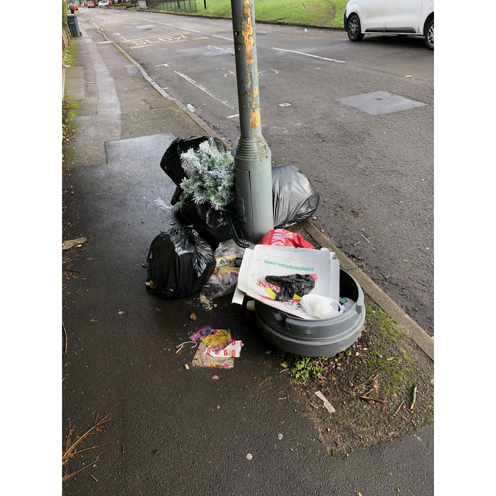The former location of a litter bin in Acocks Green
